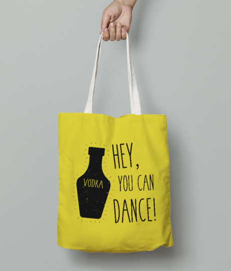 You can dance tote bag front