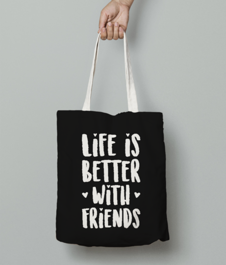 Better friends tote bag front