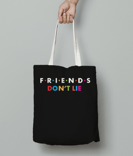 Dont lie tote bag front