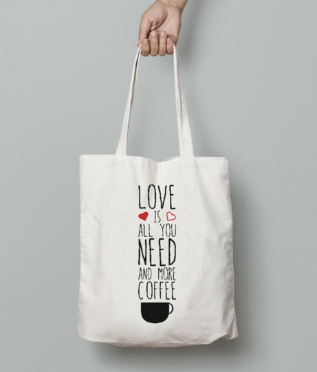 Love coffee tote bag front