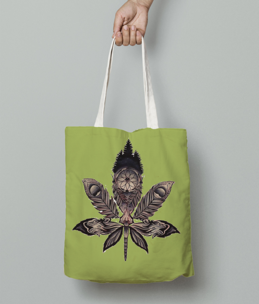 Weed tote bag front