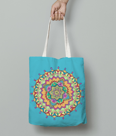 Colourfulmandala tote bag front