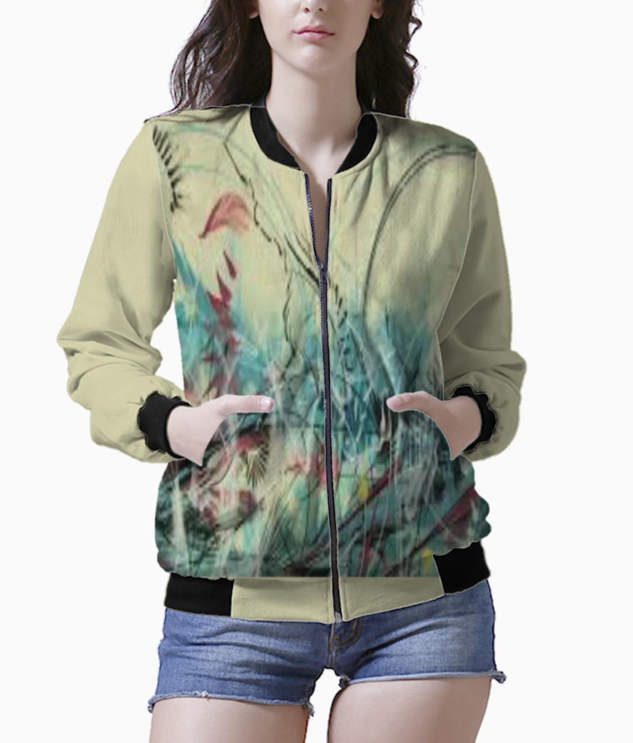 Abstract bomber front