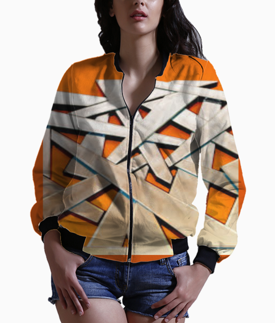 Orange and brown bomber front