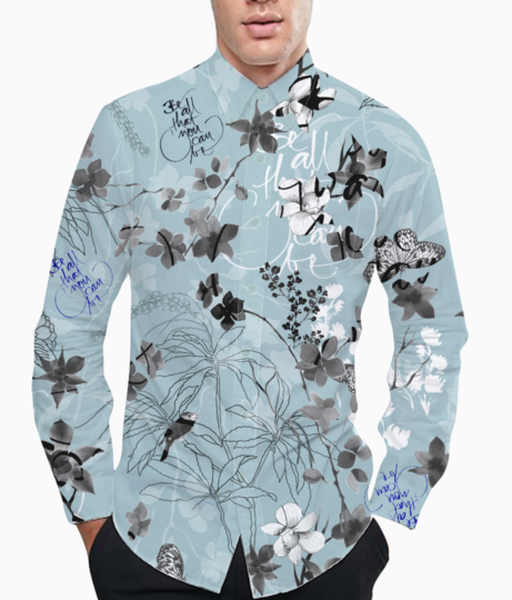 Botanical life 2  basic shirt front