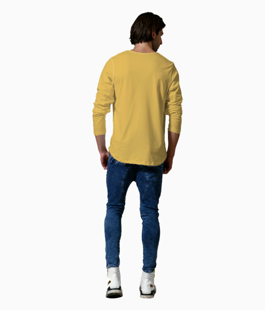 Minion with mustache henley back
