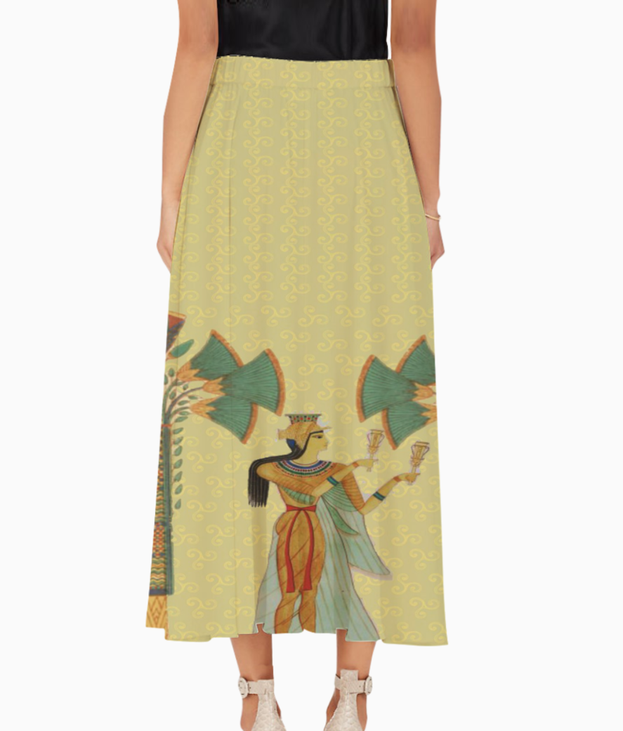 Egyptian lady with trees long skirt back