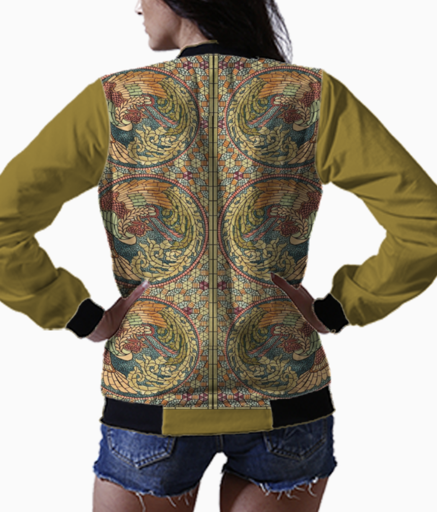Stained glass wings1 bomber back