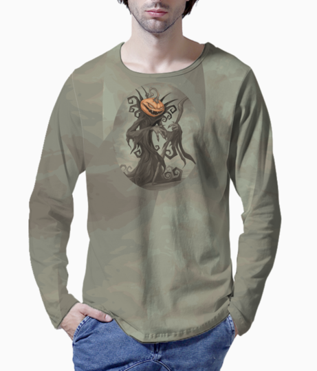 Pumpkin head henley front