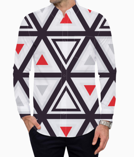 Geometry triangle basic shirt front