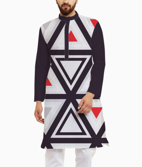 Geometry triangle kurta front