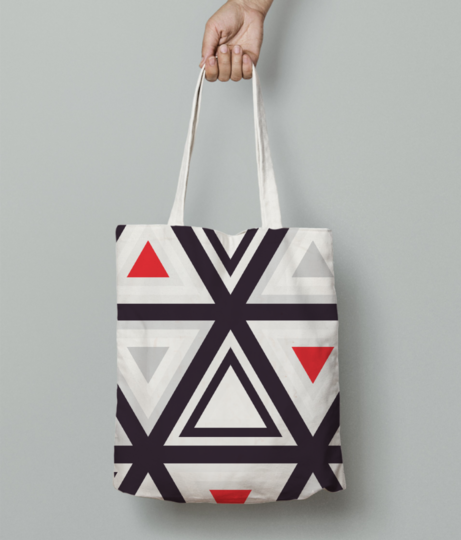 Geometry triangle tote bag front