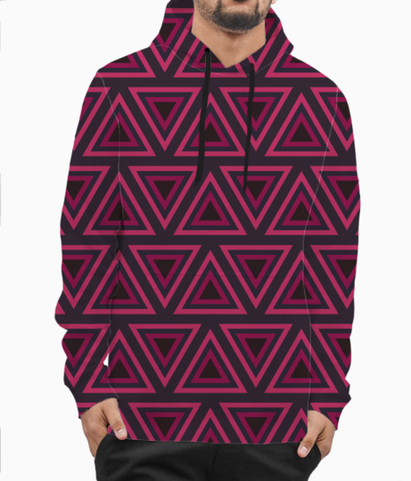 Tribal triangle hoodie front