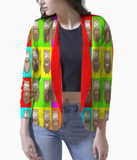 Wisdom in colors blazer front