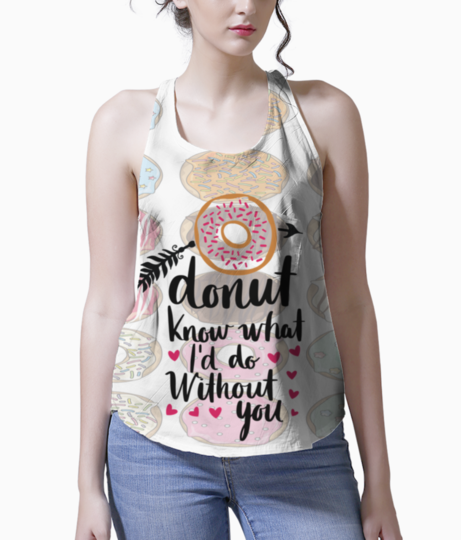 Donut love tank front