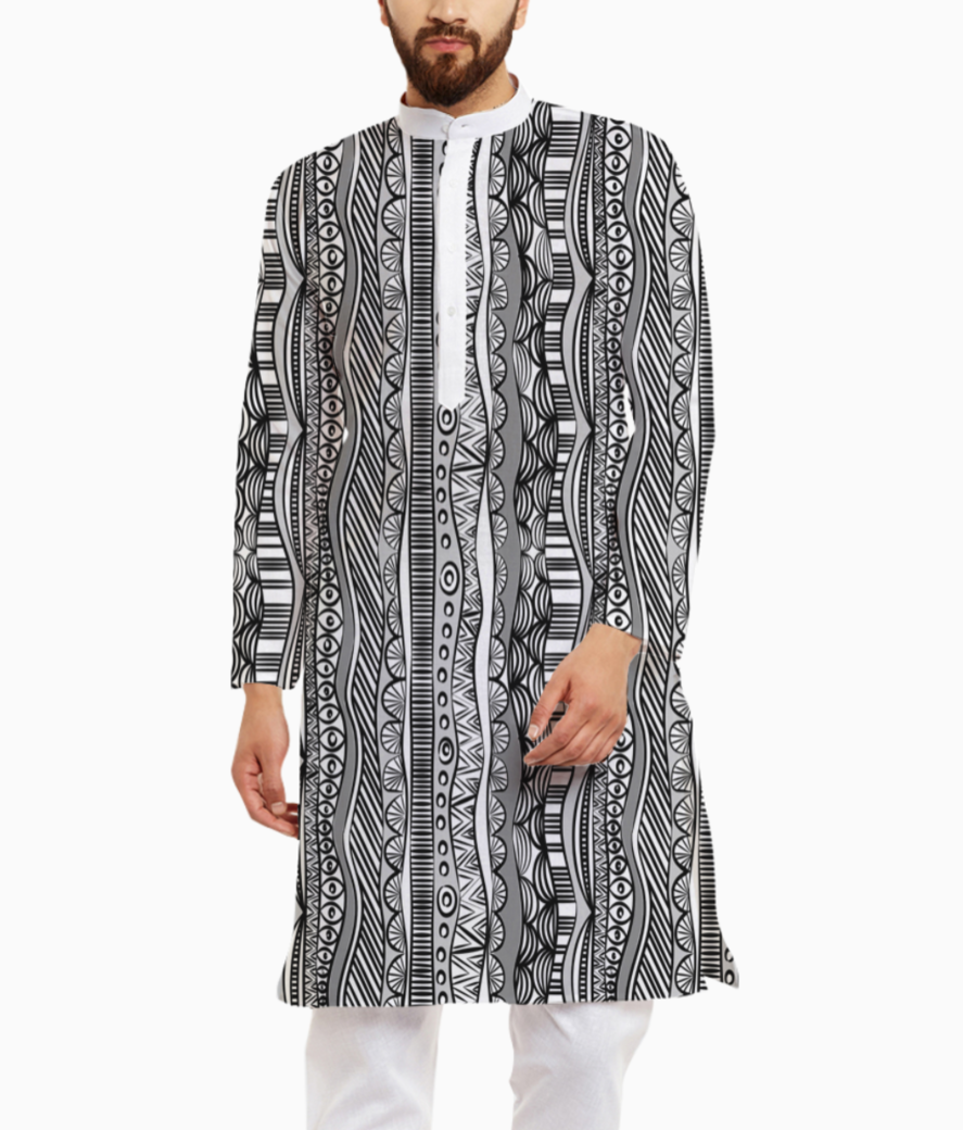Lines are in kurta front