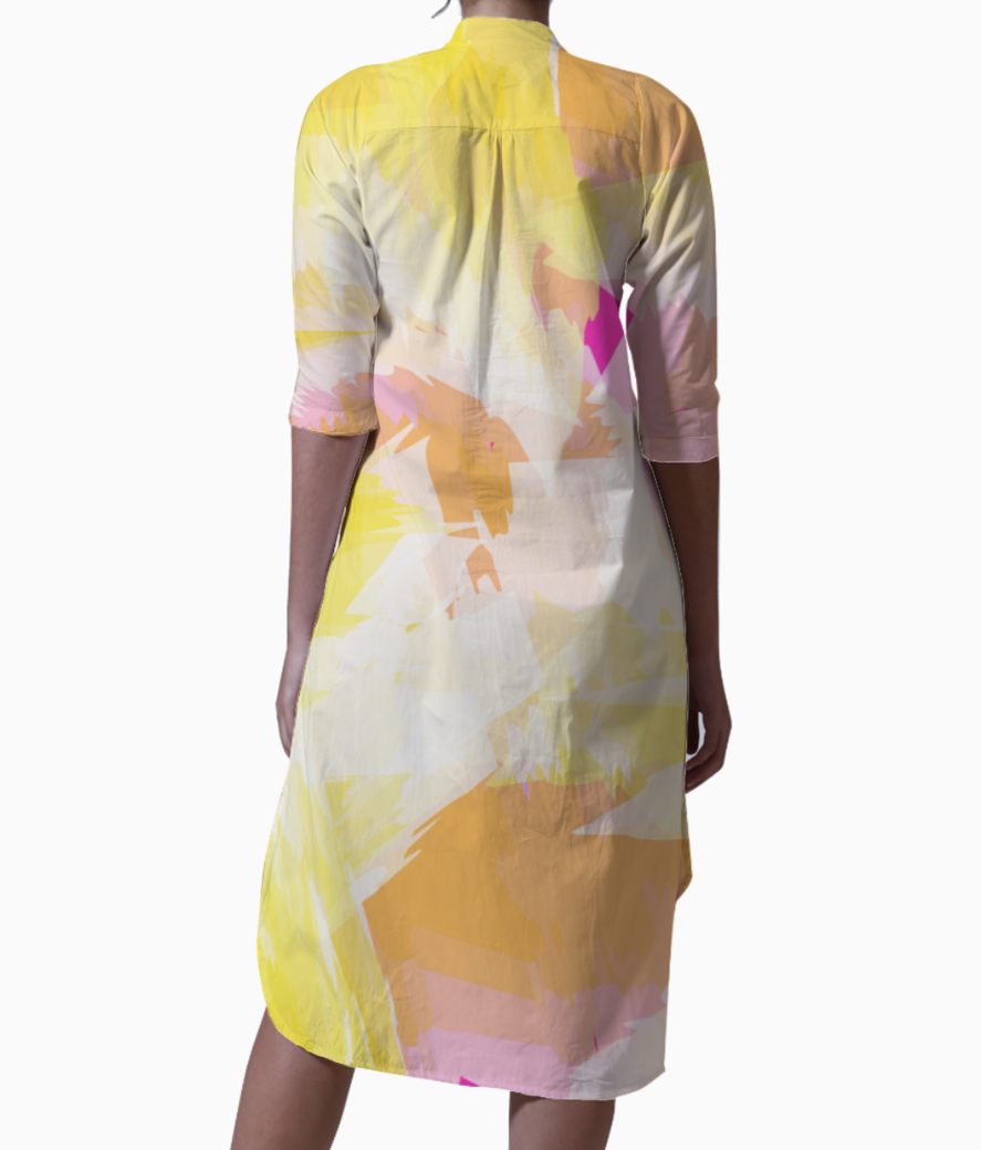 Watercolour effect kurti back