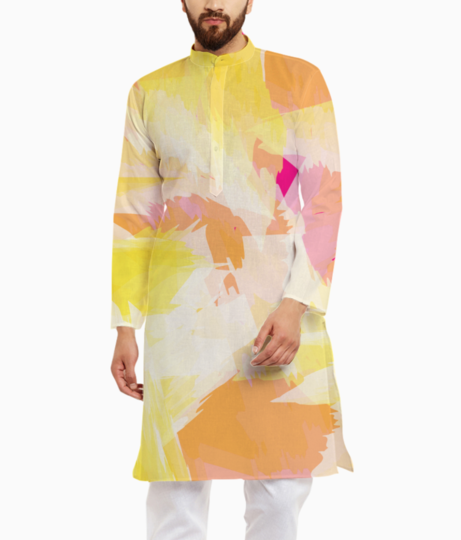 Watercolour effect kurta front