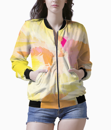 Watercolour effect bomber front