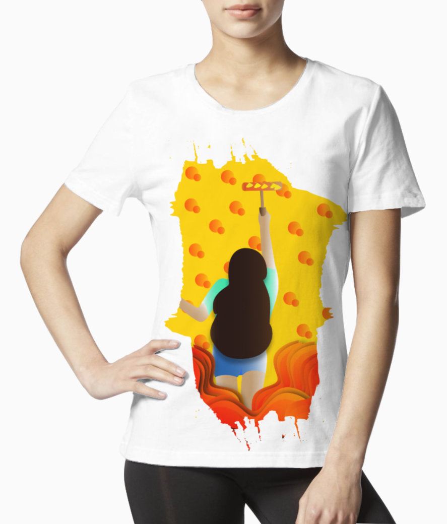 Girls dream illustration tee front