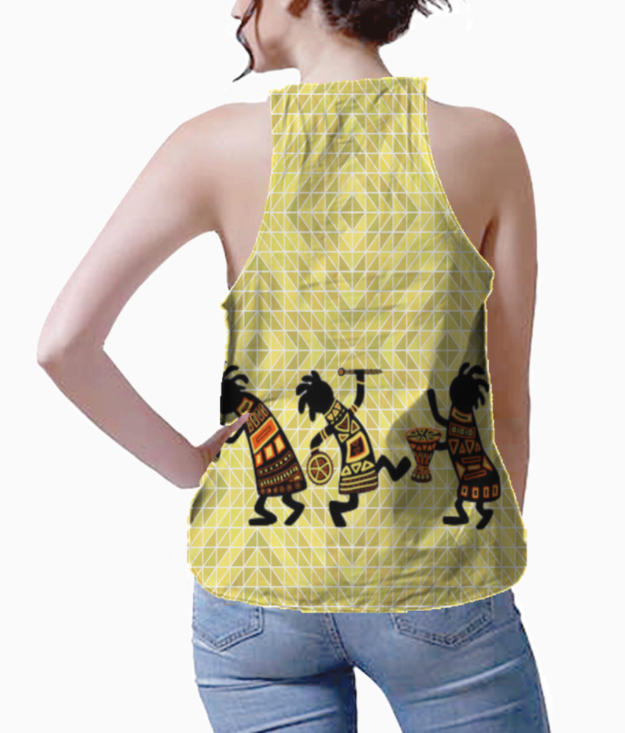 Kokopelli dance tank back