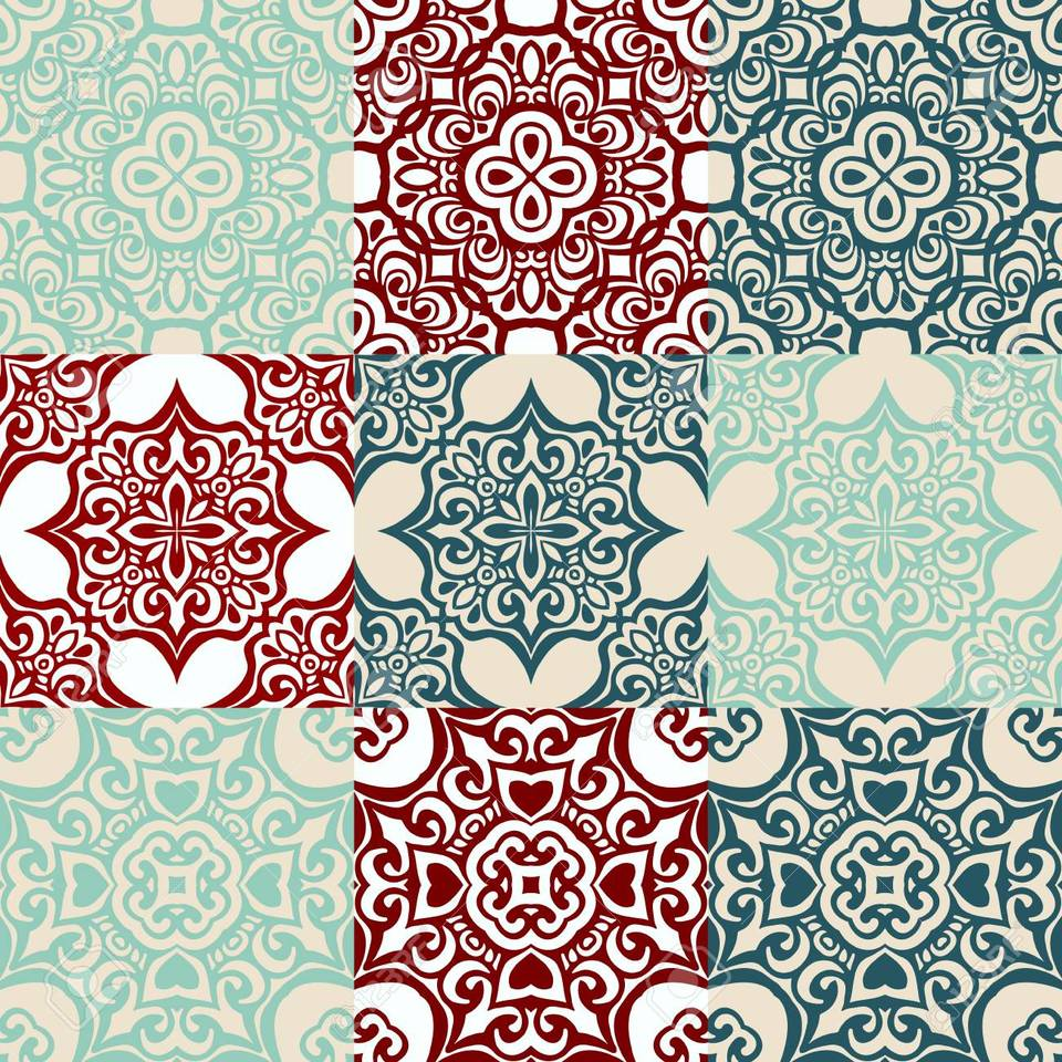 49871295 seamless patchwork pattern from dark blue and white moroccan tiles ornaments can be used for wallpap
