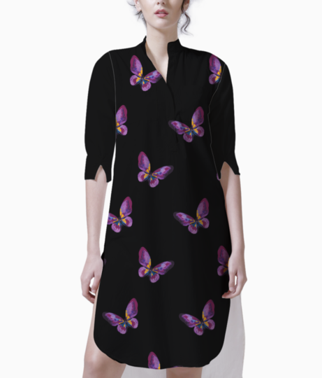 Butterfly 01 kurti front