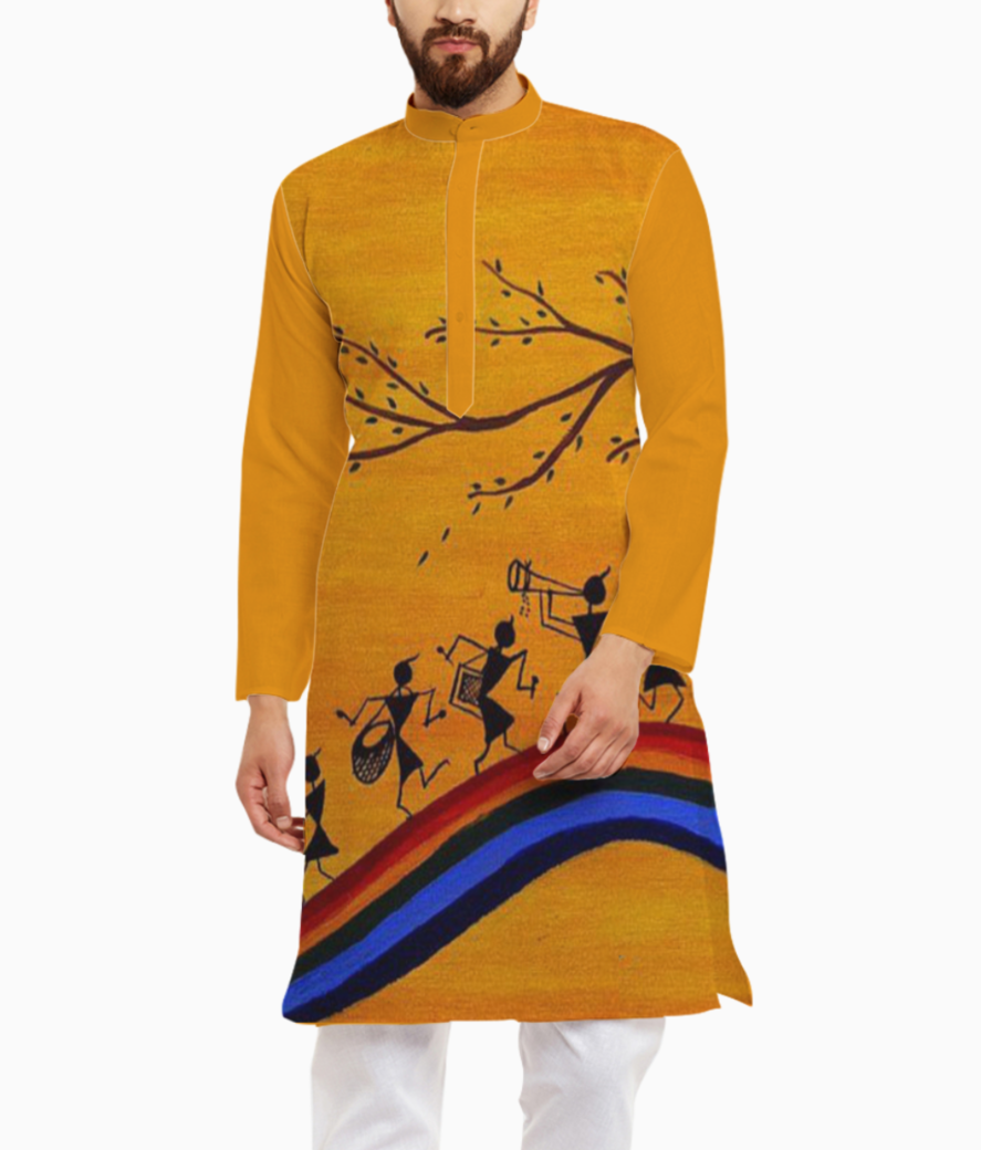 Worli dance kurta front