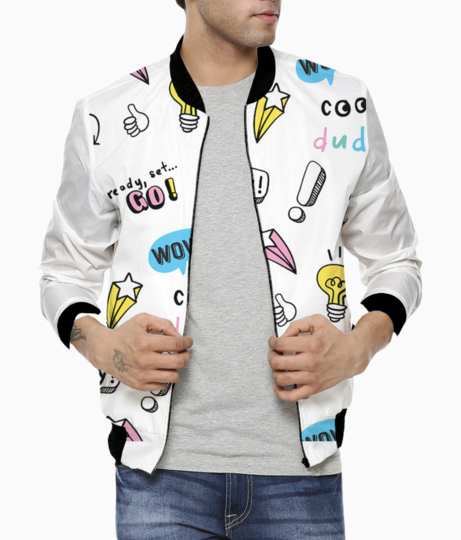 Cool dude bomber front