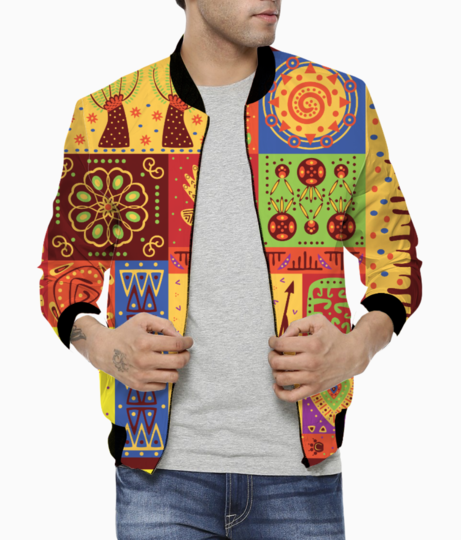 Tribal pattern bomber front