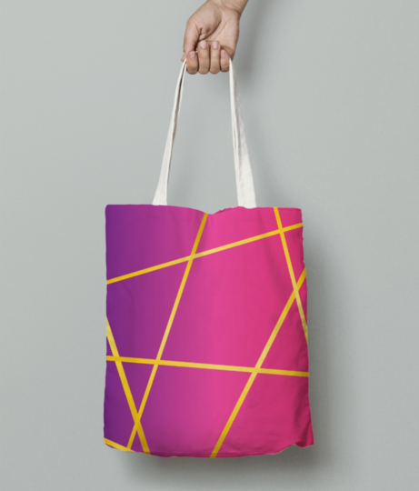 Abstract lines tote bag front