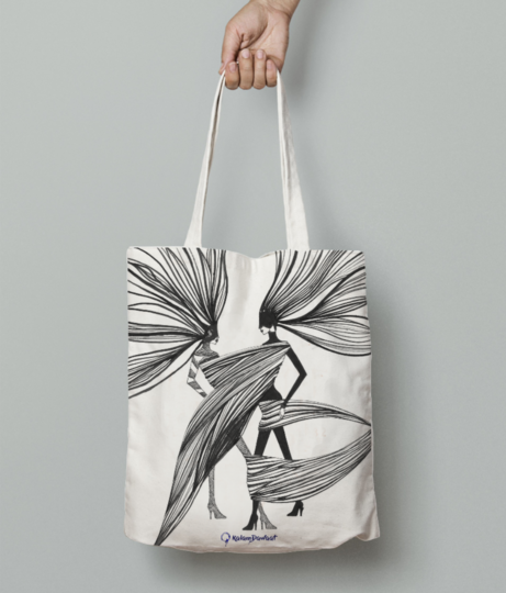 Tangled tote bag front