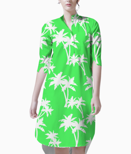 Hello palm trees kurti front