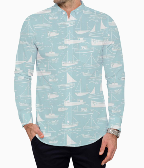 Holidaying summer basic shirt front