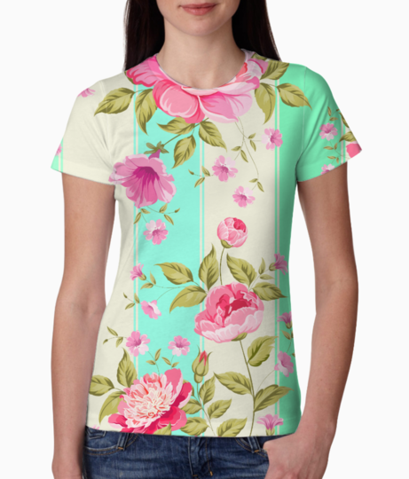Floral print 2 tee front
