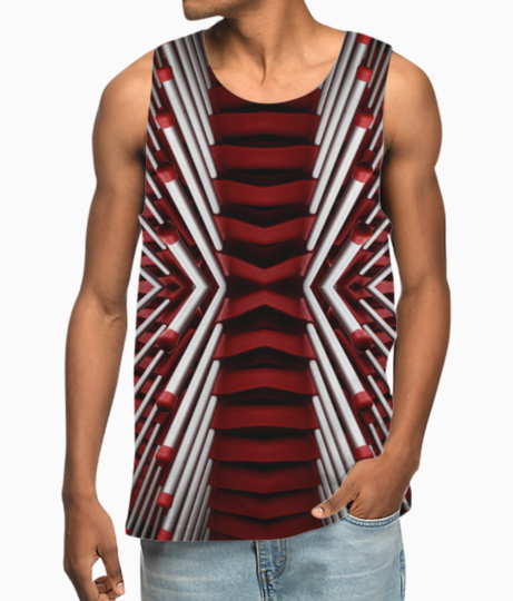 Canva   red and white matchsticks wallpaper vest front