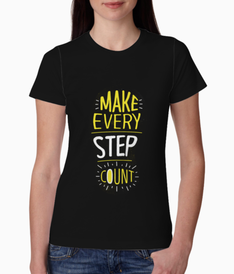 Make every step count tee front