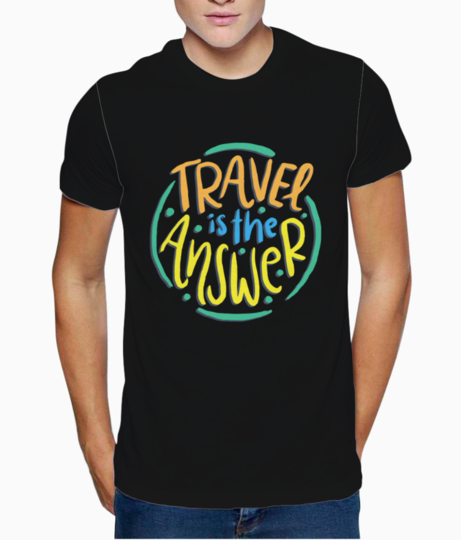 Travel love t shirt front