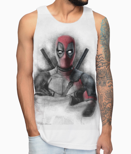 Deadpool sketch drawings and deadpool sketch artworkstasik brands vest front