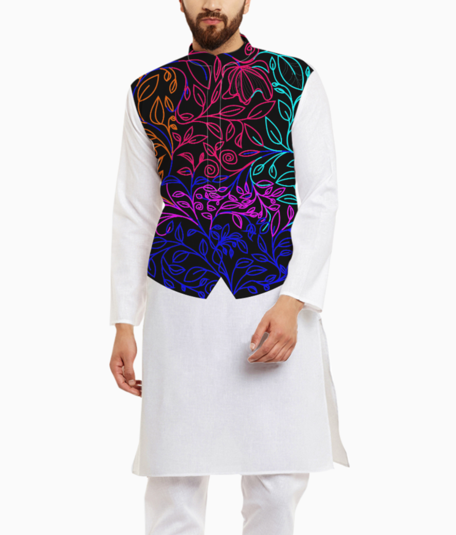Floral color kurta front
