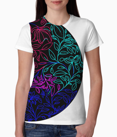 Floral color tee front