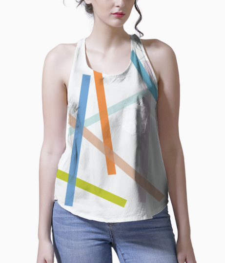 Abstract lines tank front