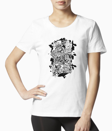 Graffiti front tee front