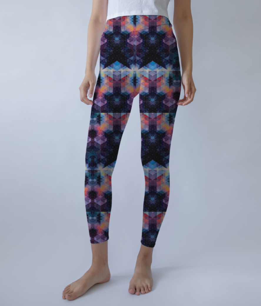 Into the stars leggings front