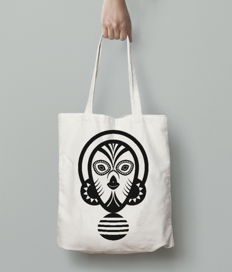 Inca mayan tote bag back