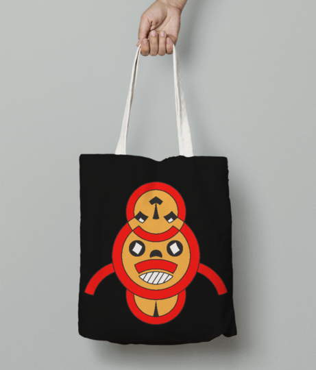 Songye tribe tote bag front