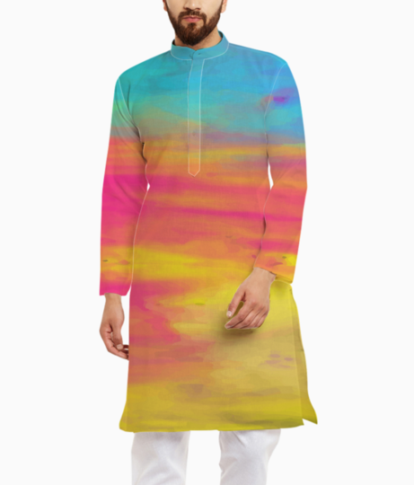 Colour shades kurta front