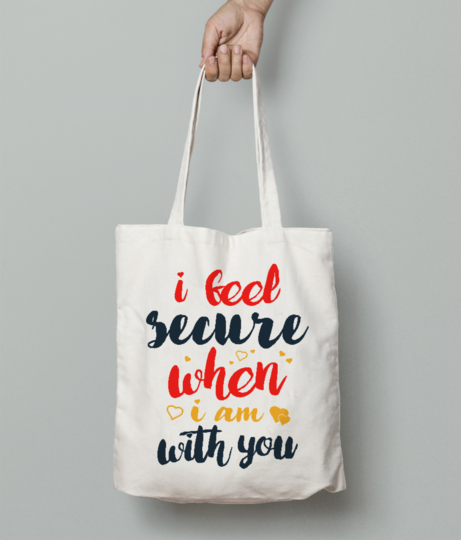 Feel secure tote bag front