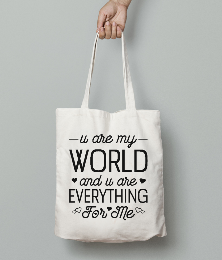 Everything for me tote bag front