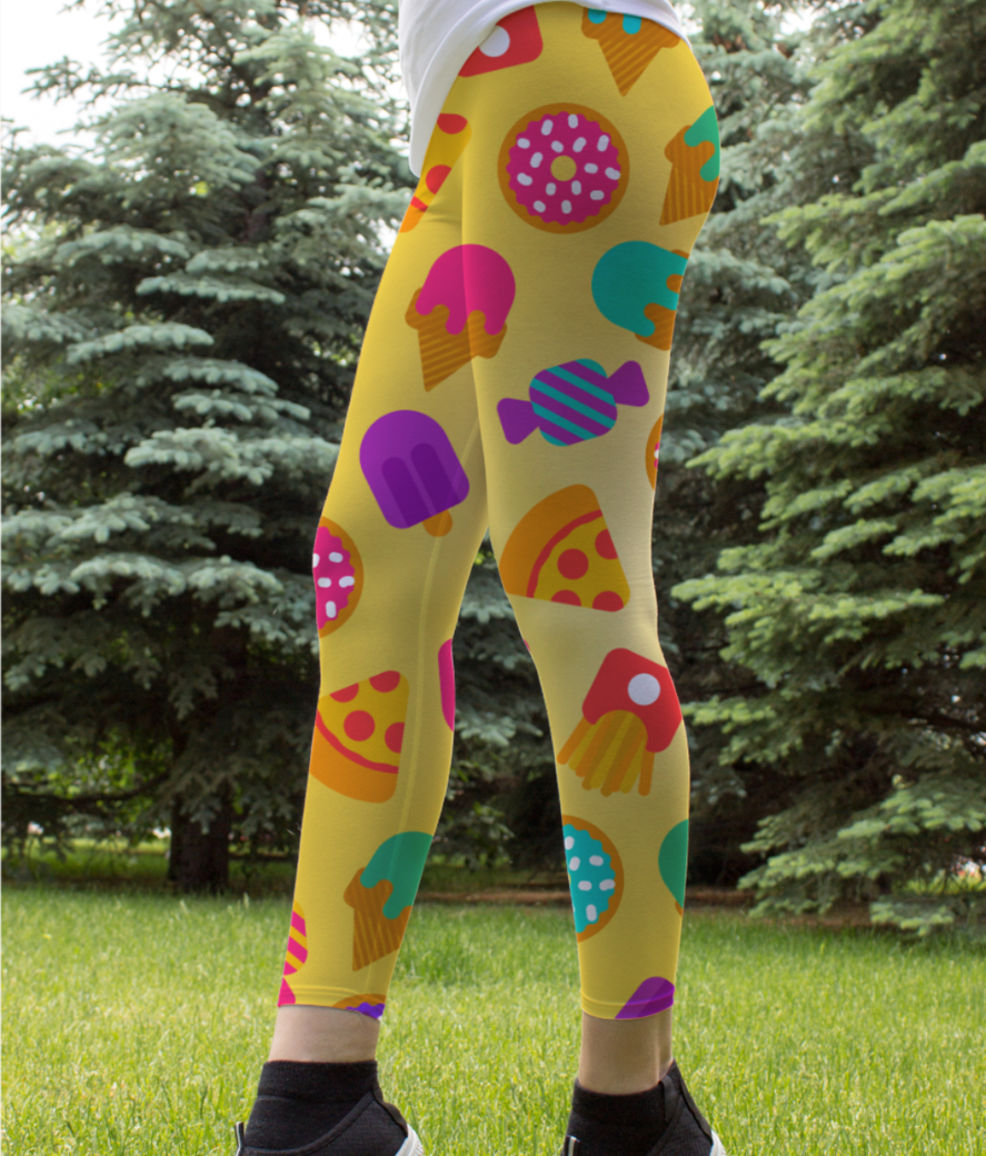 Food love leggings front